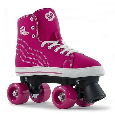 Rio Roller Canvas Quad Skates - Pink / White