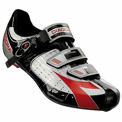 Diadora Tornado Road Bike/Cycling/Cycle Shoes - Euro 43 - White / Black / Red