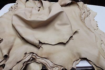 Italian thick Lambskin leather skins NATURAL GRAINY VEGETABLE TANNED TAN #A1385