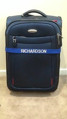 Just Pawfect embroidered personalised luggage identifier Strap / Suitcase Tag