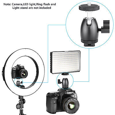 Neewer Mini Ball Head with Lock and Hot Shoe Adapter Camera Cradle UD#15