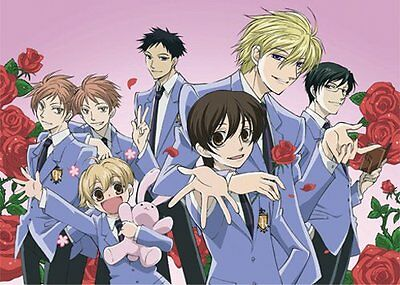 *NEW* Ouran High School Host Club: Group Rose Background Fabric Poster by GE