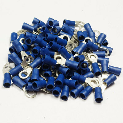 Insulated Blue Ring Terminal Connector Terminals Crimp Electrical Terminal Cable