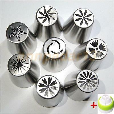 8pcs/Set Russian Tulip Flower Icing Piping Nozzles Cake Decor Tips Baking Tools