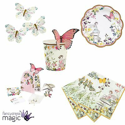 Talking Tables Truly Fairy Vintage Floral Butterfly Tea Party Hen Tableware Lot