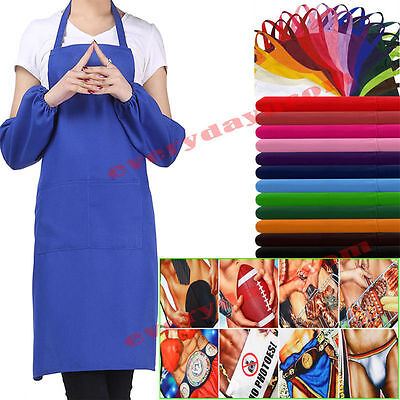Plain Apron Novelty Funny Aprons For Chefs Butchers Kitchen Cooking Craft Baking