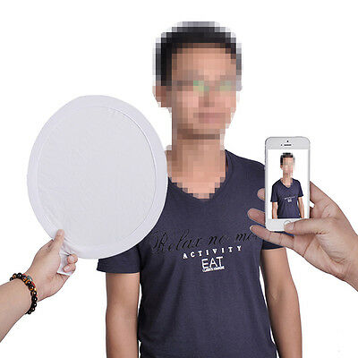 12 inch 2-in-1 White & Silver Collapsible Portable Pocket Reflector