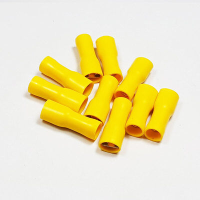 Fully Insulated Yellow Female Spade Terminal Connector Crimp Terminals