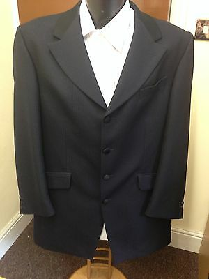 Mens Magee Navy Prince Edward Jacket, Silk Collar, 100% Wool, Formal Wear Etc