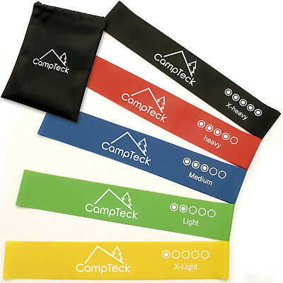 Pack of 5 Resistance Loop Exercise Bands Workout Fitness Yoga Crossfit Strength