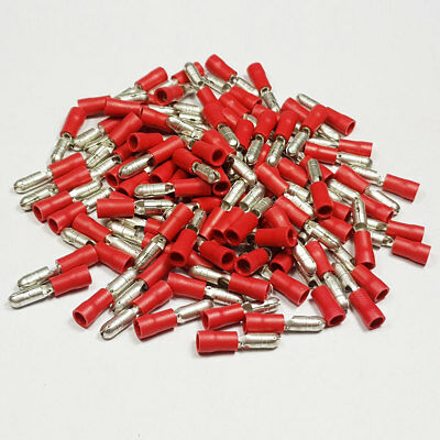 Insulated Male Red Bullet Terminal Connector Terminals Crimp Electrical