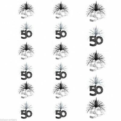 7ft Black Silver 50th Birthday Party Decoration Cascade Column