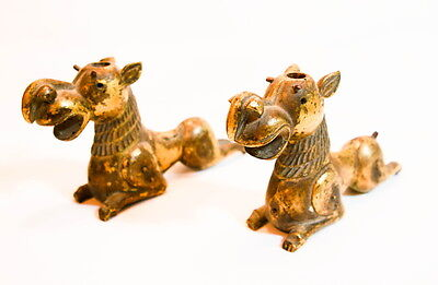 Original Ancient Bc Egyptian Gold Bronze Camel Horse Figures