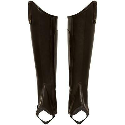 GSEquestrian Synthetic Chaps Elastic Stirrups YKK Zips GSE008