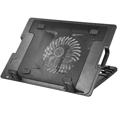 "TRIXES Laptop Stand with Built in LED, Fan & Single USB Port Ideal for 9"" to 17"""