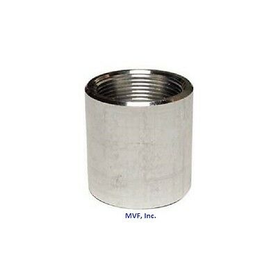 "1/2"" NPT Threaded Full Coupling Aluminum 6061-T Schedule 40 Pipe Fitting A050441"