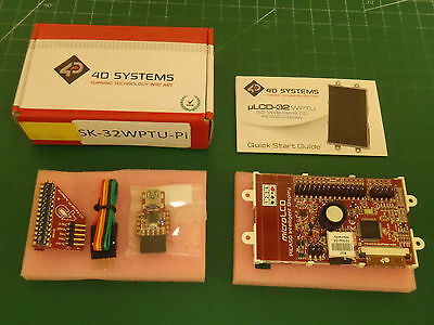 "4D Systems 83-15584 3.2"" LCD Display Module Pack SK-32WPTU-Pi !52D!"