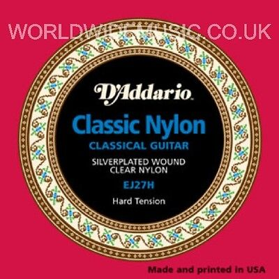 D'ADDARIO EJ27H CLASSIC NYLON Guitar Strings HARD