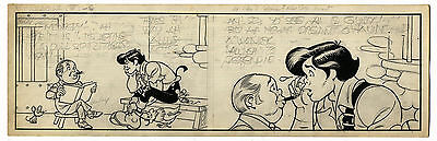 Al Capp ''Li'l Abner'' Almost Finished Orig Comic Strip