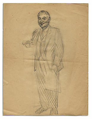 Al Capp Early Sketch of a Man in a Suit