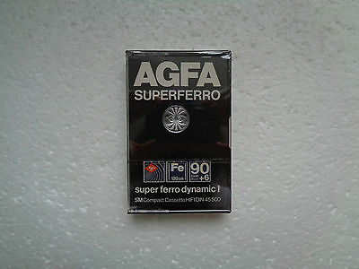 Vintage Audio Cassette AGFA SuperFerro 90+6 * Rare From 1979 * 1st Version