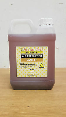 Vanilla Bottle AIR FRESHENER LIQUID CONCENTRATE 1 Litre CAR VALETING OFFERS