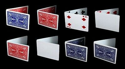Bicycle Magic Gaff Deck Playing Cards Double Back Blank Face Trick Red Blue 1 PC