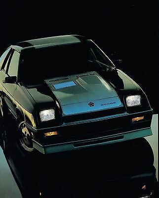 Big 1986 Dodge CHARGER Brochure / Catalog with Color Chart: SHELBY, 2.2,