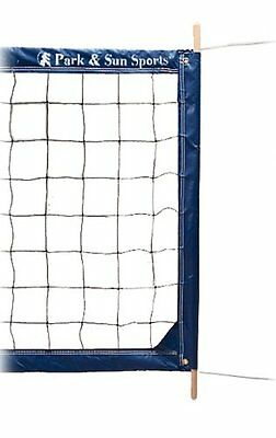 "Park & Sun Steel Cable Volleyball Net, 4"" Top Tape"