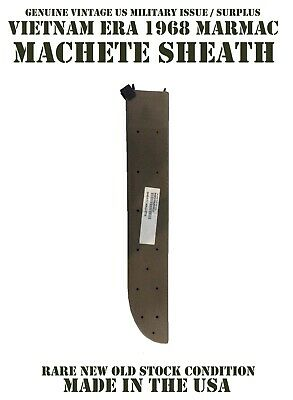 1968 Vietnam War Era Usgi Machete Knife Sheath With Self Sharpener New 18 Inches