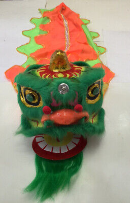 "13"" Chinese New Year Lion Dragon Head Dance Performance Decoration"