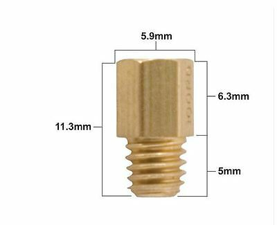 Yamaha HJ Hexagonal Brass Main Jets for Mikuni carburettors- various sizes
