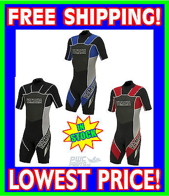 YAMAHA Neoprene Shorty Spring Wetsuit ALL SIZES BLUE RED BLACK Wet Suit 2MM NEW