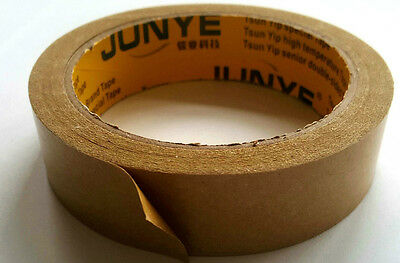 ECO BROWN ADHESIVE KRAFT PICTURE FRAMING PAPER TAPE 25mm X 25m NEW FREE POST