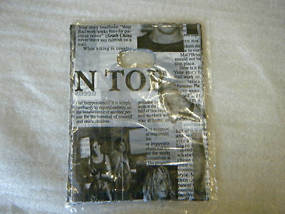 40+ Small Fashion Carrier Party Gift Loot Bags Newspaper Magazine Print Ukseller