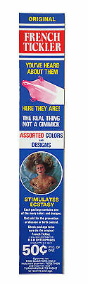vtg condom machine decal vending novelty NOS water transfer french prophylactic