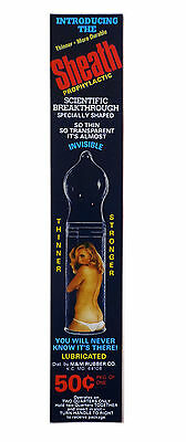 vtg condom machine decal vending novelty NOS water transfer pin up prophylactic