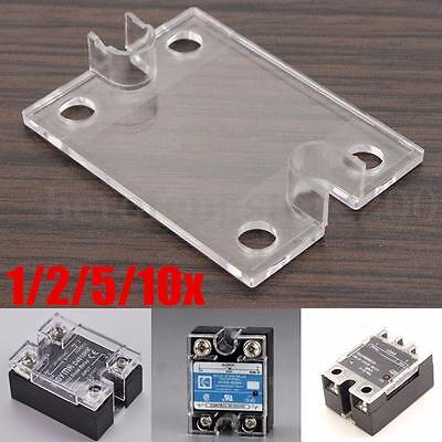 1/2/5/10x Safety Plastic Clear Cover Case for Single Phase SSR Solid State Relay
