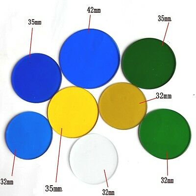 32mm 35mm 42mm Microscope Filters RGB Yellow White Color for Microscopes
