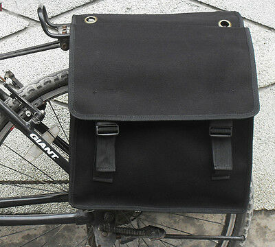 Black Bicycle Rear Rack Tail Seat Double Side Pannier Bag Waterproof for Cycling