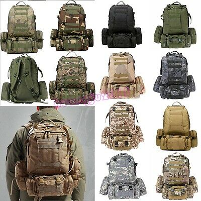 50L Molle 3 Day Assault Tactical Outdoor Military Camping Rucksacks Backpack bag