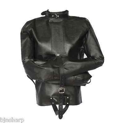 *** Adult Leather Restraint Straight Jacket Bondage Straightjacket Slave Sex ***