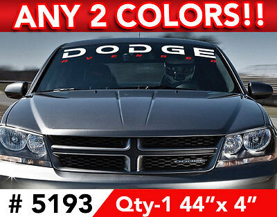 """CHARGER UNDER 2 COLOR WINDSHIELD DECAL STICKER 44/""""w x 6/""""h in ANY Colors"""