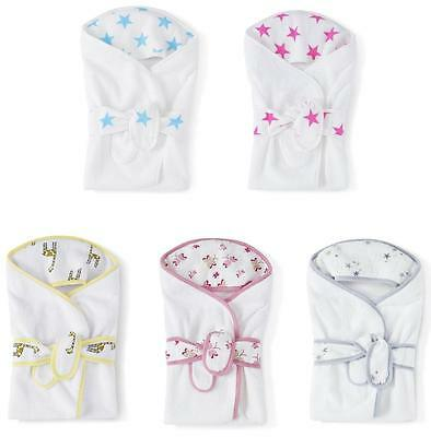 Baby Bath Wrap Towel by Aden and Anais Cotton Terry with muslin hood infant +