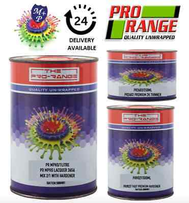 2k Clear Lacquer Car Paint PRORANGE MPHS 1L +500ml 9027 activator +250ml Thinner