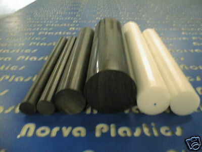 """(30776B) Delrin 1 3/4""""dia 6"""" Long Rod Black For Sale"""