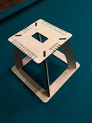 Kumihimo Square Braiding Loom w/ stand for jewelry,bracelets,Laser Cut Wood
