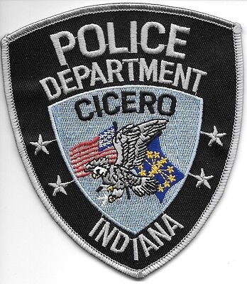 "Cicero, Indiana  (4.25"" x 4.75"") shoulder police patch (fire)"