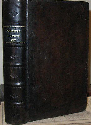 1767 POLITICAL REGISTER ~ STAMP ACT TAXATION REVOLUTIONARY WAR EDMUND BURKE &c.