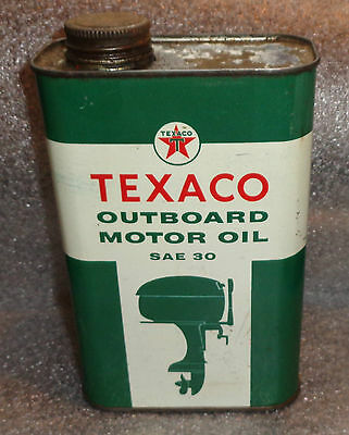 Old Texaco Outboard Motor Oil tin